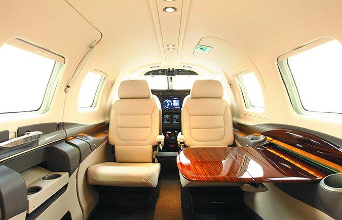 Piper M600 cabin furnishings