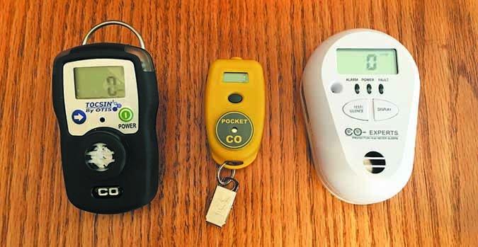 portable Carbon monoxide detectors