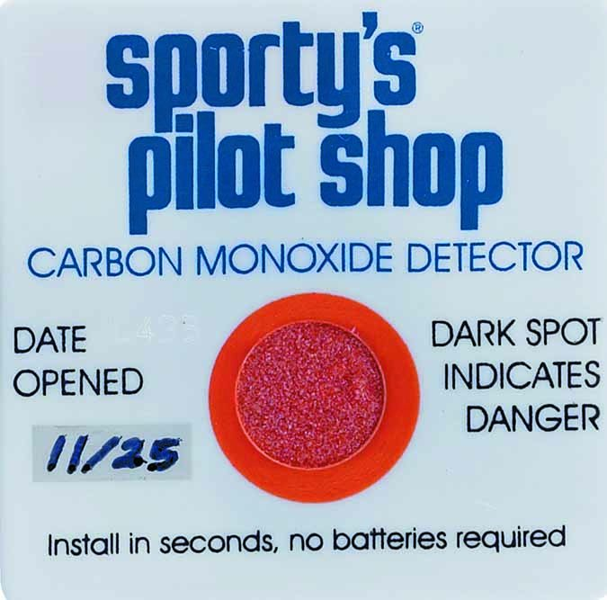 Chemical spot detectors from Sporty's