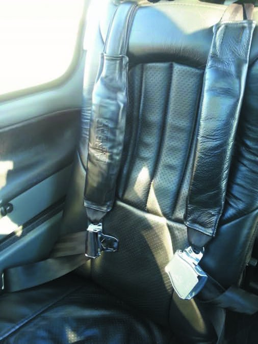 Shoulder harness airbags