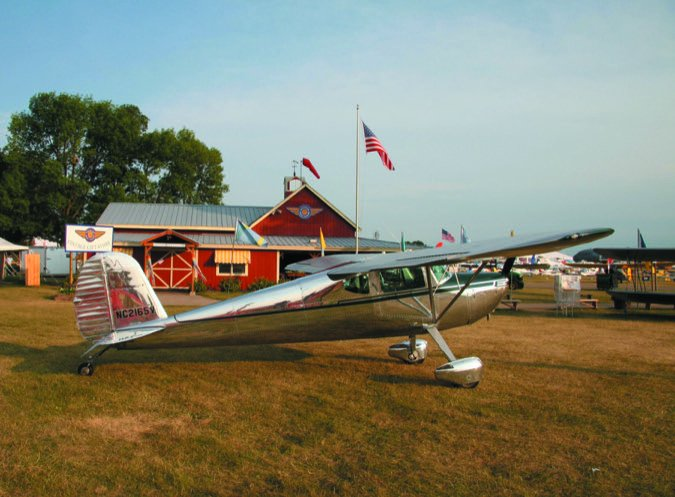 Cessna 140 Oshkosh at EAA barn