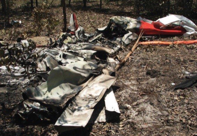 8 Piper Sport Crash in Woods