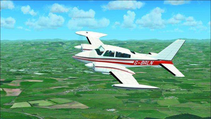 Cessna 310 inflight4
