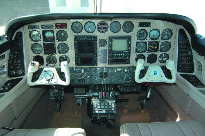 37 Duke cockpit