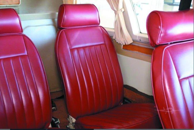 6 Comanche cabin seating